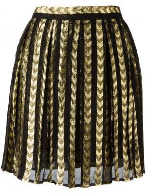 Плиссированная мини-юбка Dodo Bar Or. Цвет: чёрный