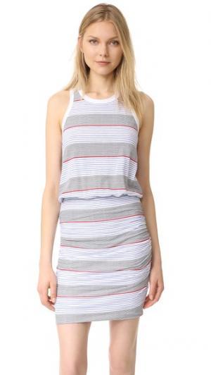 Платье без рукавов SUNDRY. Цвет: белый