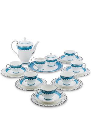 Чайный сервиз на 6 перс. Византия (Band-E-Rumi Pavone) Pavone. Цвет: белый