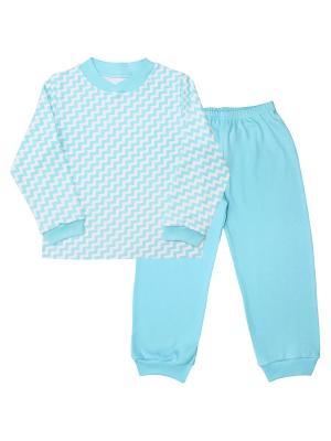 Пижама Веселый малыш. Цвет: голубой, светло-голубой, светло-серый
