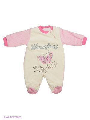 Комбинезон Babycollection. Цвет: розовый, молочный