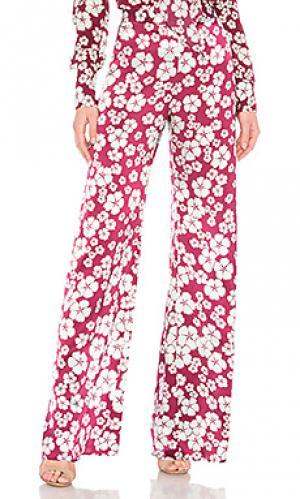 Широкие брюки nesta Alexis. Цвет: вишня
