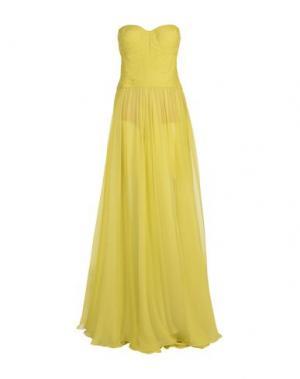 Длинное платье MARIA LUCIA HOHAN. Цвет: кислотно-зеленый