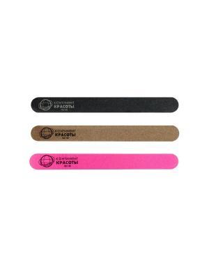 Набор пилочек Континент Красоты № 2 (3 шт.). Цвет: черный, розовый, серый