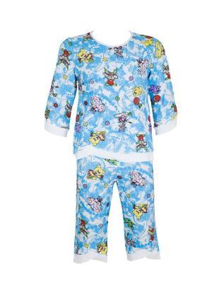 Пижама Милослава. Цвет: голубой