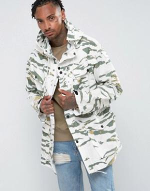 Maharishi Камуфляжная куртка карго. Цвет: зеленый