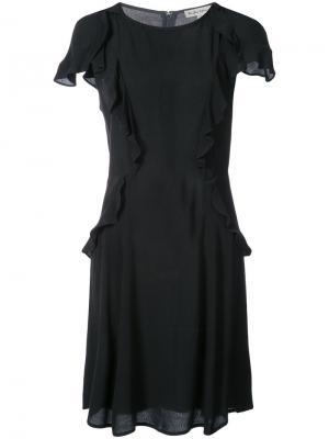 Платье с драпировкой For Love And Lemons. Цвет: чёрный