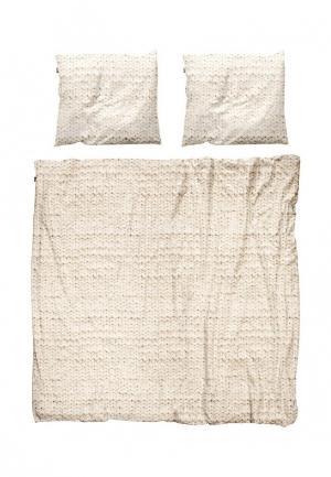 Комплект постельного белья 2 - спальный Snurk. Цвет: бежевый