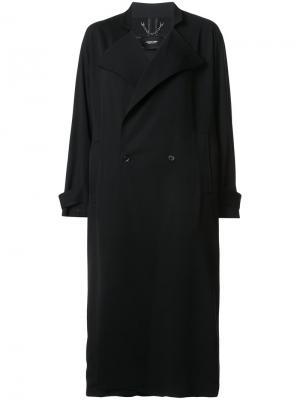 Длинное свободное двубортное пальто Rachel Comey. Цвет: чёрный