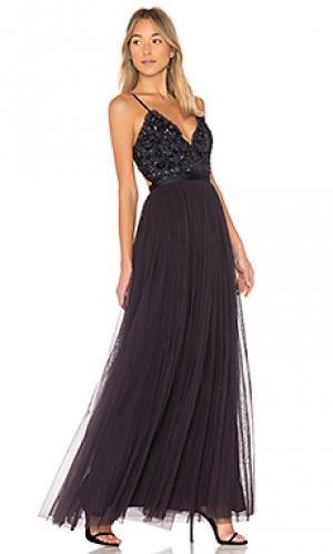 Вечернее платье midnight lace Needle & Thread. Цвет: черный