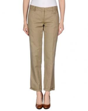 Повседневные брюки GOLD CASE SOGNO. Цвет: хаки