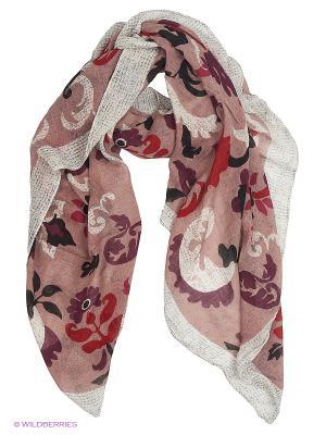 Платок Mario Spado. Цвет: бледно-розовый, темно-красный, бронзовый