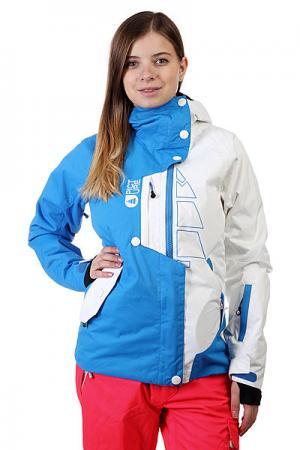 Куртка женская  Jkt True White/Blue Picture Organic. Цвет: белый,голубой