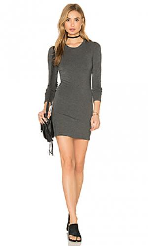 Мини-платье с длинным рукавом BLQ BASIQ. Цвет: уголь