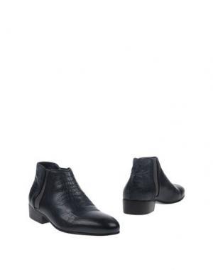 Полусапоги и высокие ботинки LE QARANT. Цвет: темно-синий