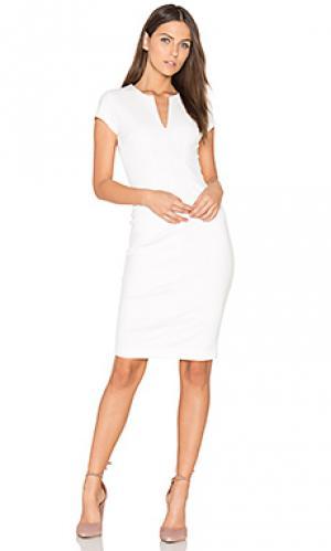 Платье с вырезом v Eight Sixty. Цвет: белый