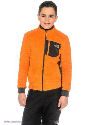 Куртка The North Face. Цвет: оранжевый
