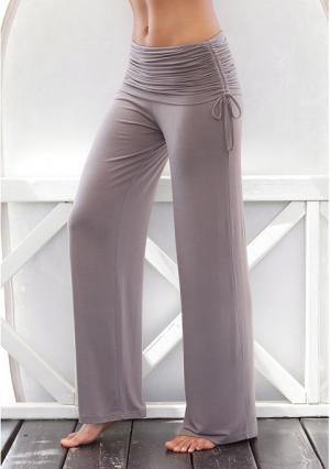 Пляжные брюки Lascana. Цвет: белый, серо-коричневый, черный