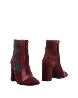 Полусапоги и высокие ботинки GIANNA MELIANI. Цвет: красно-коричневый