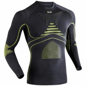 Термо-Кофта X-Bionic. Цвет: charcoal/yellow