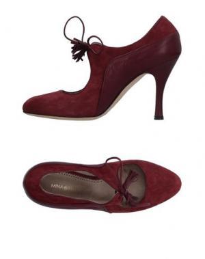 Туфли MINA BUENOS AIRES. Цвет: красно-коричневый