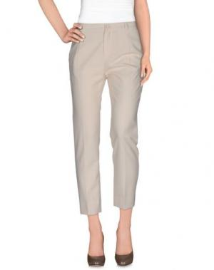 Повседневные брюки BOUCHRA JARRAR. Цвет: слоновая кость