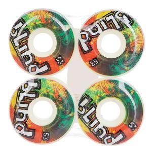 Колеса для скейтборда  Trippy Og Wheel White/Rasta 53 mm Blind. Цвет: мультиколор