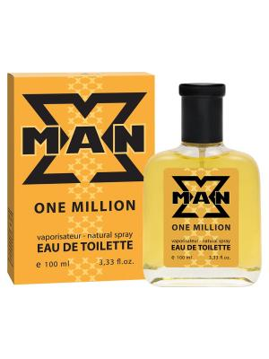 Туалетная вода X Man One Million (Икс Мэн 1 Миллион) муж. 100ml APPLE PARFUMS. Цвет: прозрачный