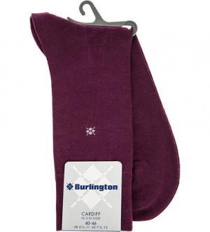 Фиолетовые хлопковые носки Burlington. Цвет: фиолетовый