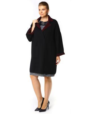 Пальто SHE'SSO. Цвет: черный, бордовый