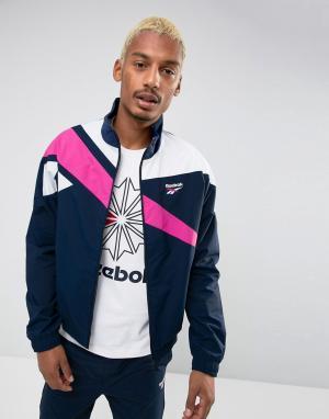 Reebok Темно-синяя спортивная куртка Vector BR0104. Цвет: темно-синий