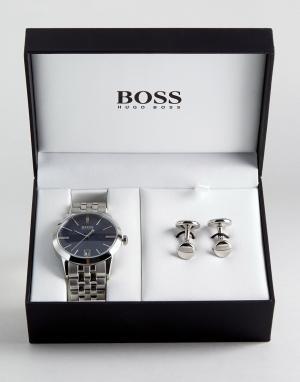 BOSS Подарочный набор с часами и запонками By Hugo 1570047. Цвет: черный