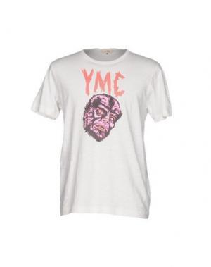 Футболка YMC YOU MUST CREATE. Цвет: белый