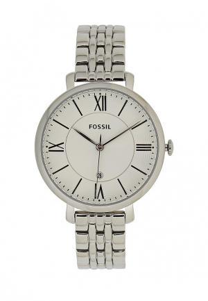 Часы Fossil. Цвет: серебряный