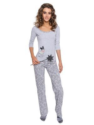 Пижама Lui et Elle. Цвет: серый