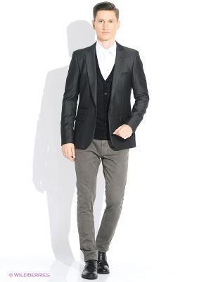 Пиджак Oodji. Цвет: темно-серый