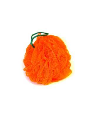 Мочалка-спонж Шар жесткая KONONO. Цвет: оранжевый