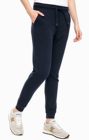 Синие брюки джоггеры с принтом Napapijri. Цвет: синий