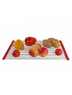 Сетка-сушилка для раковин Сушка RUGES. Цвет: белый, красный