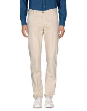 Повседневные брюки BARBA NAPOLI. Цвет: слоновая кость