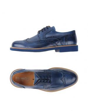 Обувь на шнурках BRUNO VERRI. Цвет: грифельно-синий