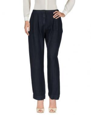 Повседневные брюки IVORIES. Цвет: темно-синий