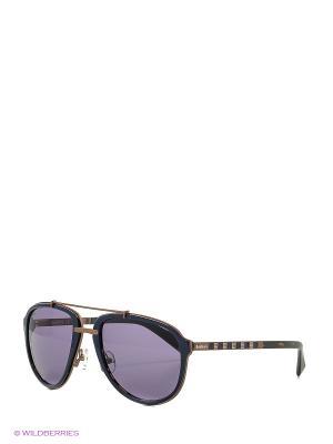 Солнцезащитные очки BLD 1621 102 Baldinini. Цвет: синий, бронзовый