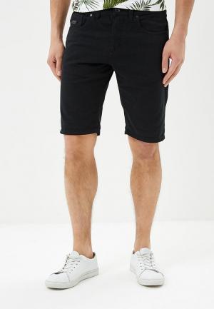Шорты джинсовые Produkt. Цвет: черный