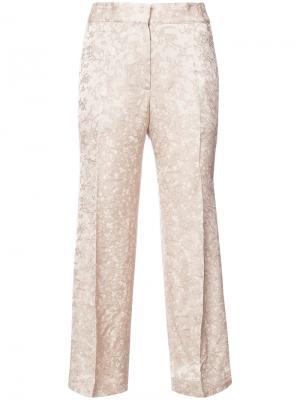 Укороченные брюки Protagonist. Цвет: телесный