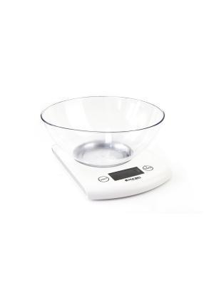Весы кухонные с чашей ELTRON. Цвет: белый