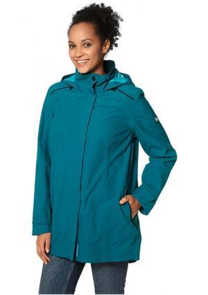 Куртка POLARINO. Цвет: зелено-синий, черный