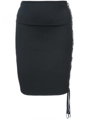 Lace up skirt Alexandre Vauthier. Цвет: чёрный
