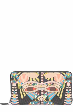 Футляр для документов с отделениями кредитных карт и монет Givenchy. Цвет: разноцветный
