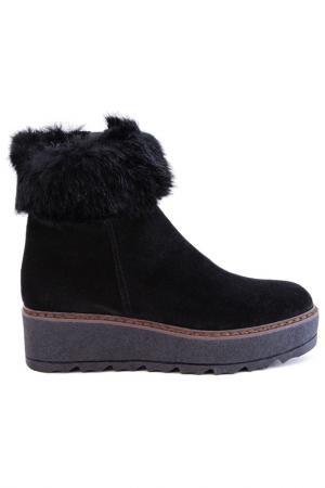 Ботинки утепленные Elena. Цвет: черный